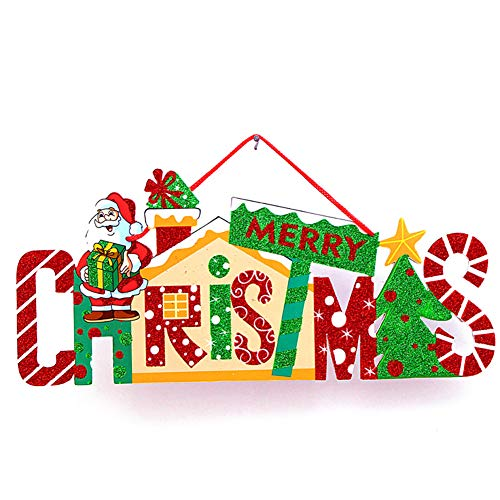 NiceButy Christmas Decorations Home Decorations, Christmas Tree Decorated or Hanging Doors (Santa Claus) Decoration of the Hanging Sample