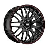 2005 honda accord 16 inch rims - Maxxim Maze Gloss Black with Red Stripe Wheel (16x7-Inch)