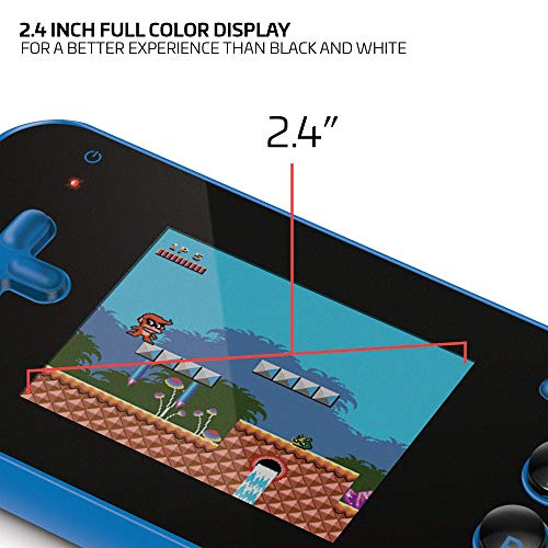 """My Arcade Gamer V Portable Gaming System - 220 Built-In Retro Style Games and 2.4"""" LCD Screen – Blue/Black"""