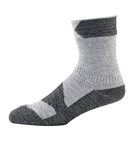 SealSkinz Walking Ankle Walking Socks Grey Marl Dark Grey