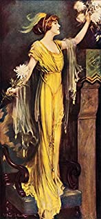 A Queen of Society by Charles Allan Gilbert Victorian Art Print Poster (6.75 x 15)
