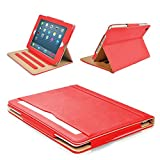 MOFRED® Red & Tan 9.7 inch Apple iPad Pro (Launched 2016) Leather Case