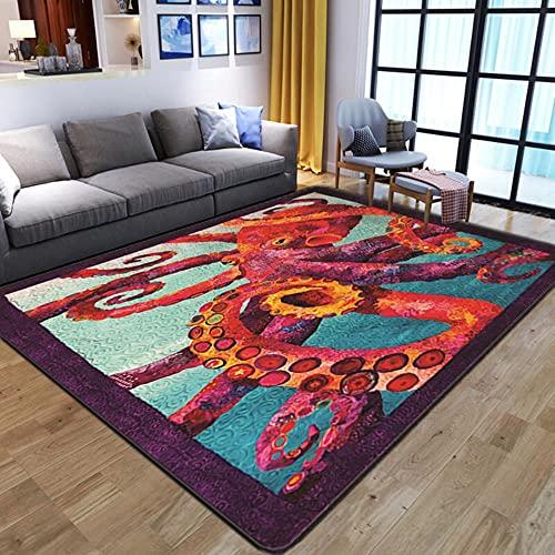 Alfombra con estampado de unicornio 3D de dibujos animados para niños, alfombra de juego de franela suave de espuma viscoelástica para sala de estar, 20,60 x 90 cm