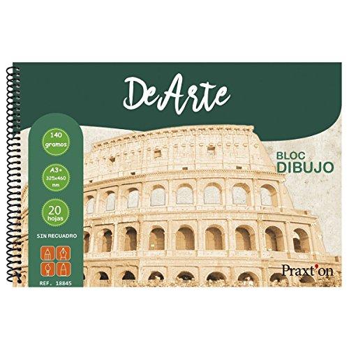 Bloc Espiral Dibujo PRAXTON DeArte Liso, Din-A3+ 140 g/m2, x20 Hojas