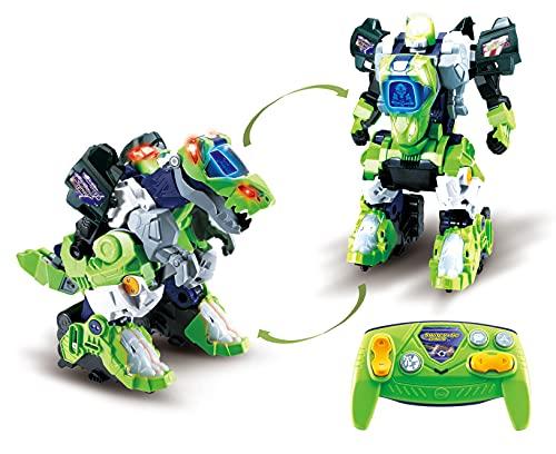 VTech 80-521064 RC Roboter-T-Rex Spielzeugdinosaurier, ferngesteuerter Roboter, automatische Verwandlung