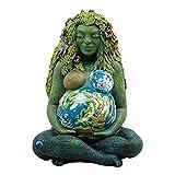 Aiong Adornos, Estatua de la Madre Tierra Resina Tierra Madre Estatuilla Adorno de jardín Escultura al Aire Libre Decoración Decoración del hogar Artesanía