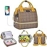 Viedouce Mini Picknicktasche Isolierter,Lunchtasche,Wickelrucksack Wickeltasche,Multifunktional...
