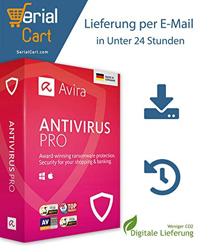 Avira Antivirus PRO 1-PC 1 Year, AV15X1XX91X12 (1 Year *Non Physical Item*)