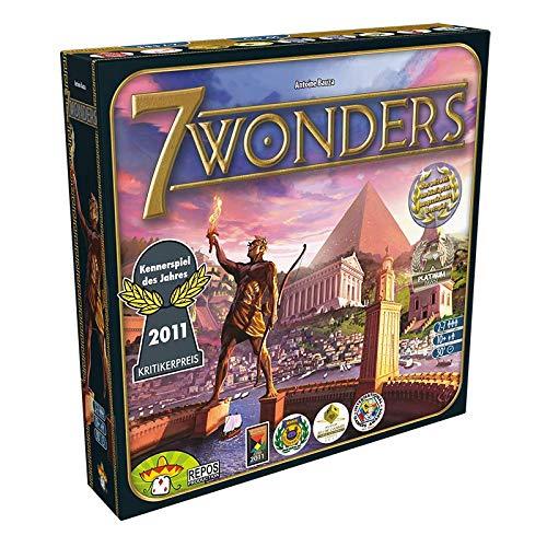 Asmodee Repos Production RPOD0012 7 Wonders + 7 Wonders Babel, Kenner-Spiel, Deutsch