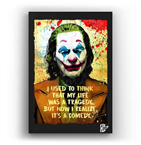 Arthur Fleck (Joaquin Phoenix) de la pelicula Joker, 2019 - Pintura Enmarcado Original, Imagen Pop-Art, Impresión Póster, Impresion en Lienzo, Cuadro, Cómics, Cartel de la Película