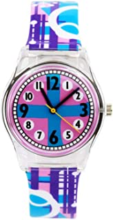 Hemobllo Quartz Watch Wrist Watch Decorative Waterproof Cute Practical Watch for Children Kids Girls (Purple)