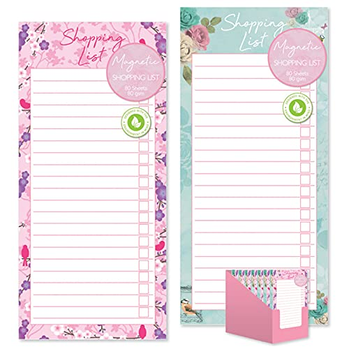 Vintage Magnetic Shopping List Pad With 80 Tear Off Sheets - One Pack Supplied At Random