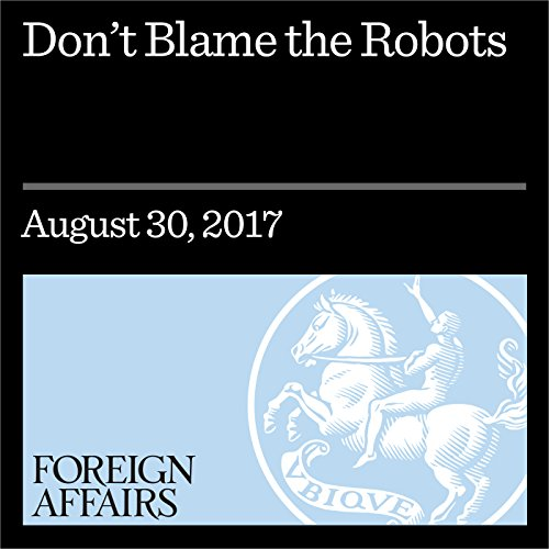 Don't Blame the Robots audiobook cover art