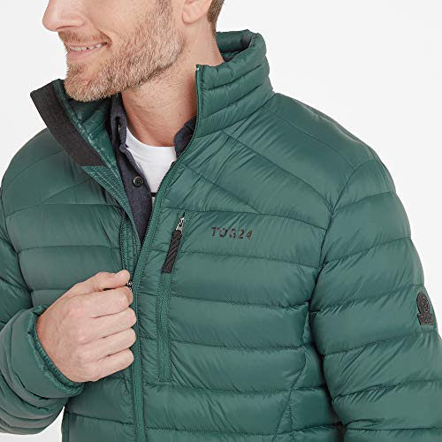 TOG 24 Base Mens Packable Down Jacket, Lightweight Breathable Ultra Warm 800 Fill Power 90% Duck Down and 10% Feathers, Soft Comfortable Casual Padded Stylish Coat, Perfect for Travel Camping Hikes