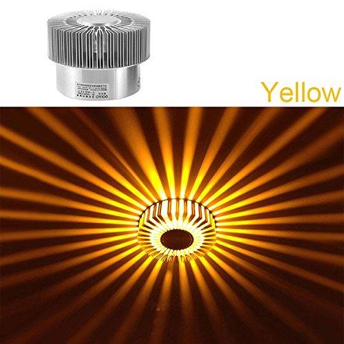 Lampe effet LED Applique Murale wamweiss couloir lampe 1 W lampe murale solaire murale Lumière du soleil Litière Design Moderne jaune