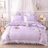 juego de funda de edredón 3d-Princesa feng shui lavado de seda cama linda camara cama soporte para estudiantes dormitorio...