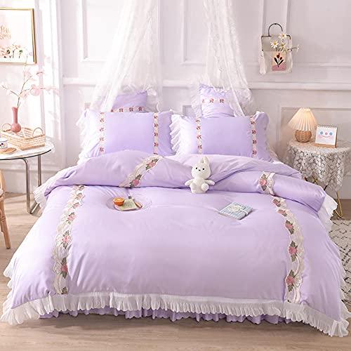 ropa de cama 135x190 3 piezas-Princesa feng shui lavado de seda cama linda camara cama soporte para estudiantes dormitorio dormitorio suite, rey doble arena cama doble cama individual almohada conjun