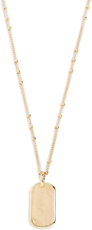 gorjana Women's Griffin Dog Tag Necklace