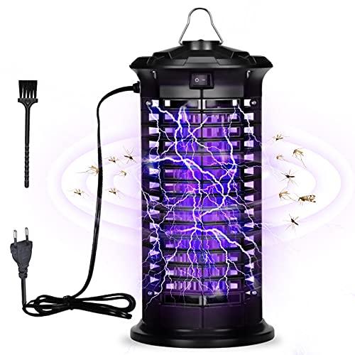 ZAHRVIA Lámpara asesina de Mosquitos, Trampa de luz Ultravioleta para Matar Insectos eléctrico, 1000 V, Potente luz de Alto Voltaje, luz eléctrica a Prueba de Agua para Interiores y Exteriores
