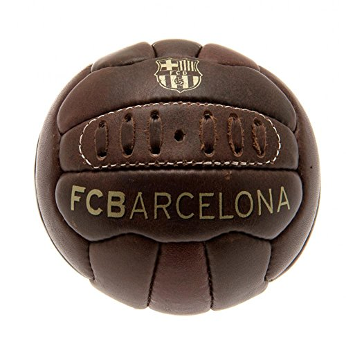 FCB FC Barcelona - Balón oficial modelo retro Heritage tamaño mini (Talla 1) (Marrón)