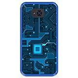 Hapdey Funda Azul para [ Bq Aquaris U2 - U2 Lite ] diseño [ Placa de Circuito eléctrico ] Carcasa Silicona Flexible TPU