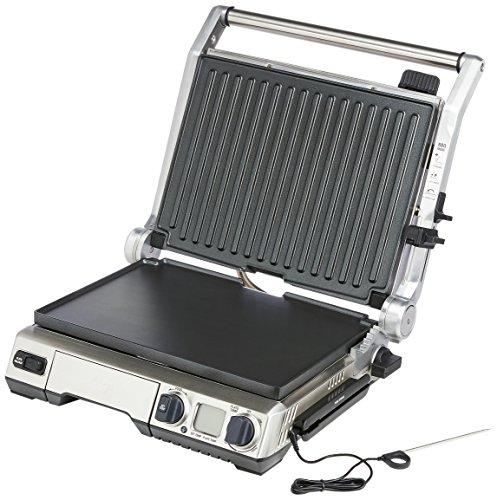 Sage Appliances SGR840 the Smart Grill Pro, Gebürstetes Edelstahl