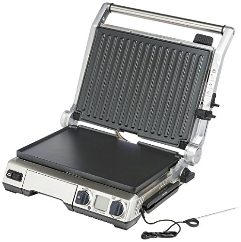 Sage Appliances SGR840 the Smart Grill Pro, Gebürstetes Edelstahl