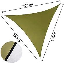 ENCOFT Sonnensegel Sonnenschutz für Terrasse Dreieckig 3x3x3 Wasserdicht Oxford Tuch 95% UV-Schutz für Garten,Balkon,AussenGrün