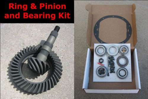 CHEVY GM 8.5' 10-Bolt FRONT Ring and Pinion 3.73 Ratio Gears & Master Bearing/Installation Kit
