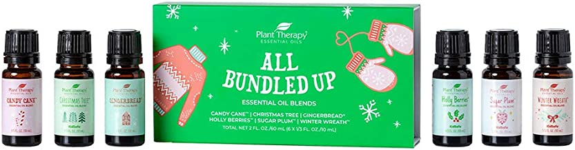 Plant Therapy All Bundled Up Holiday Essential Oil Blend Set 100% Pure, Undiluted, Natural, Therapeutic Grad