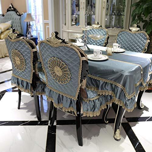 QTQHOME European four seasons dining chair cushion chair cushion cover suit anti slip quilted cushion American luxury
