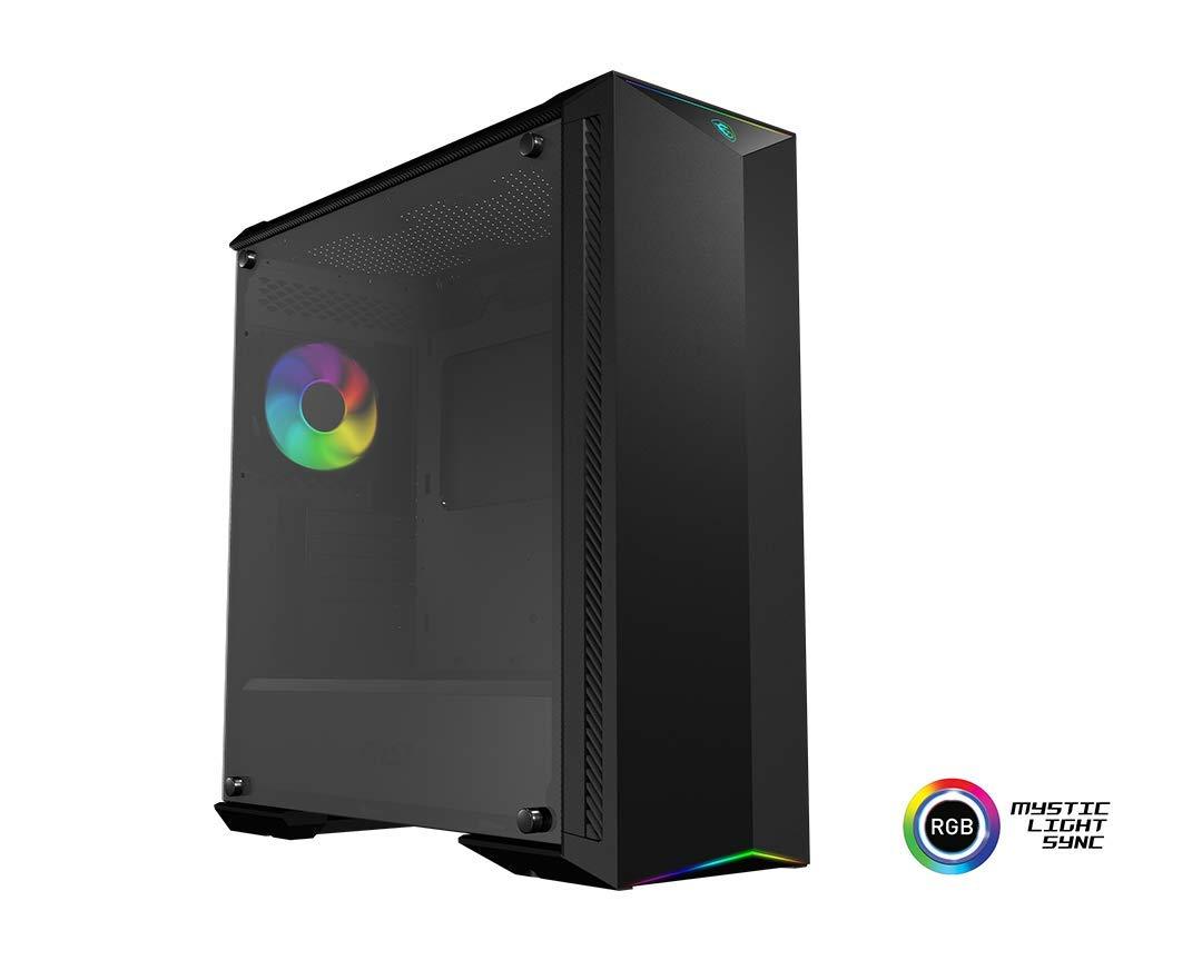 MSI MPG GUNGNIR 100 Mid-Tower ARGB Caja de PC Gaming (Negro, 1 x 120 mm ARGB + 3 x 120 mm Ventiladores Incluidos, Panel Cristal Templado, EATX, ATX, mATX, Mini-ITX): Msi: Amazon.es: Informática