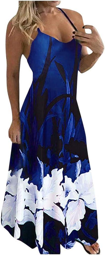 Liuxuelifg3 Maxi Dresses for Women Summer,Women's Casual Summer Short Sleeve Tie-dye Beach Dresses Maxi Dress Boho Beach