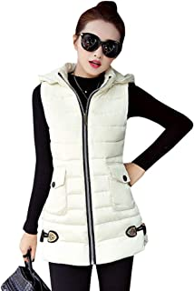 XFentech Gilet Women - Solid Color Long Section Large Size Slim Sleeveless Gilet