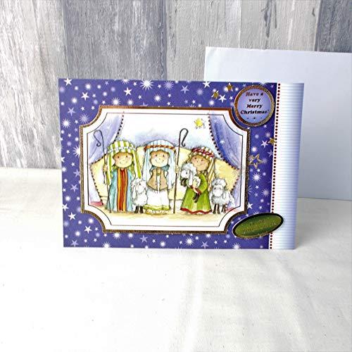Weihnachtskarte, Grußkarte, Heilige drei Könige, Din A5, N56, 15 x 21cm