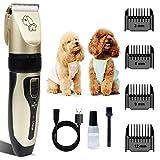 Hundeknipser Hundepflege Haarschneidemaschinen Haustier Katze Hundeschneider Silent Tierhaarschneider USB Wiederaufladbare Rasierer Haarschnittmaschine 2 Std. Laufende Hundeschermaschine