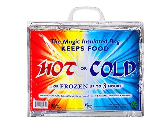 Hot Cold Lunch Bag - Insulated Thermal Bag - Size 15'x 12'x 6'