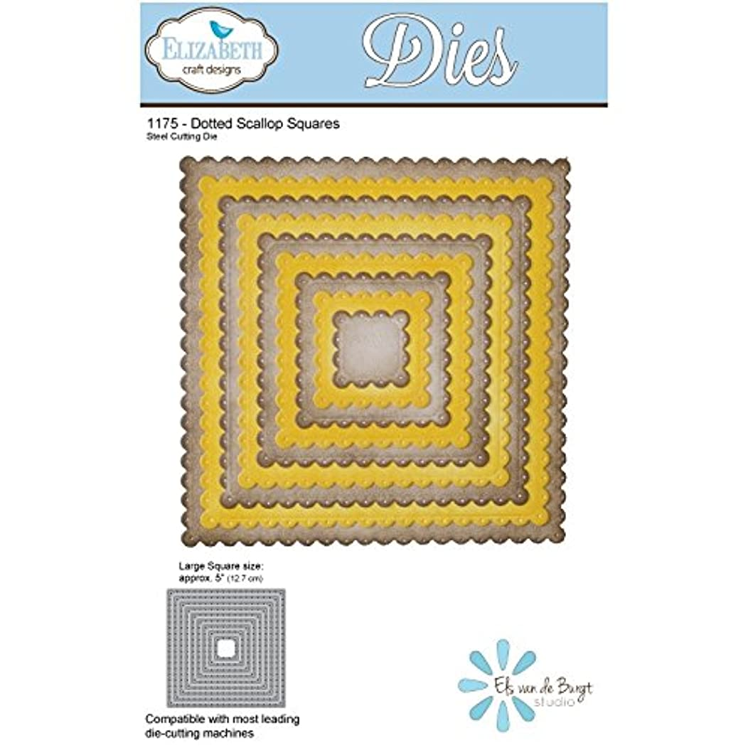 Elizabeth Craft Metal Die-Dotted Scallop Squares, 5