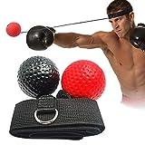 VOKY Boxtraining Ball,Reflex Fightball Speedball,Punch Boxing Ball Mit Verstellbares Kopfband Weiche Bälle,Für MMA-Training,Fitness,Hand-zu-Auge-Koordination,Fokus,Leistungssteigerung Im Boxen