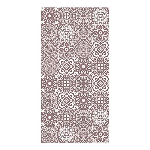 Tappeto vinilico cucina piastrelle 80 x 40 x 0,22 cm, varie misure, colore terracotta, tappeto in vinile, fondo antiscivolo, lavabile e ritagliabile, ALV-101
