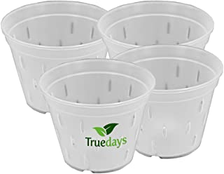 TRUEDAYS 5.5 inch 4 Pack Orchid Clear Plastic Pot