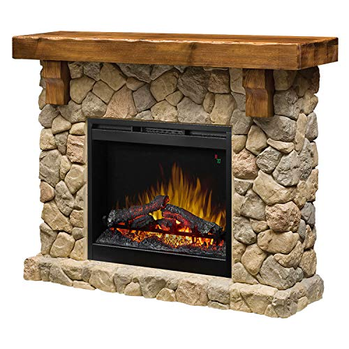 Dimplex SMP-904-ST Fieldstone Pine and Stone-look Electric Fireplace Mantel GDS26L5-904ST