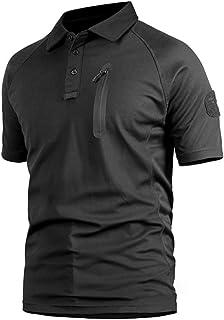 FTIMILD Men Tactical Shirt Outdoor Quick-Drying Short Sleeve Tactical Polo T-Shirt
