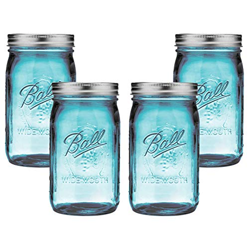 Ball Mason Jar-32 oz. Aqua Blue Glass