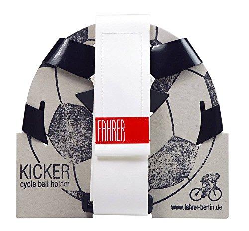 FAHRER Unisex– Erwachsene Kicker Ballhalter, Schwarz, One Size
