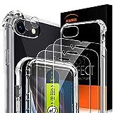 AloMit Protector Pantalla para iphone se 2020 [3*Protector de Pantalla + 2*Película de Lente +1*Funda] [4.7'] Cristal Templado para iphone se 2020 se2