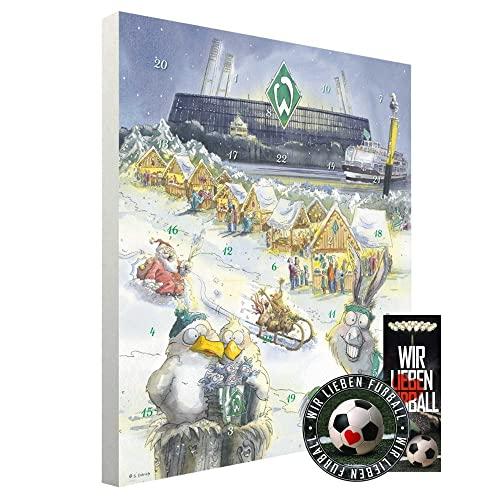 Werder Bremen Adventskalender mit Vereinsposter und Sticker