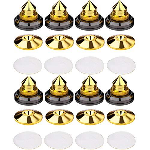 8 Piezas Picos de Altavoz, Soportes de Altavoz Antivibración para CD-Audio, Subwoofer, Tocadisco