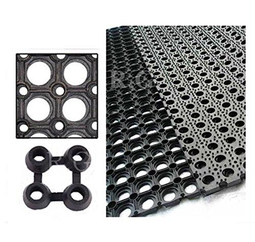 Gummimatte Schmutzfangmatte Ringgummimatte Ringmatte Verbinder 5 Größen (50x100)