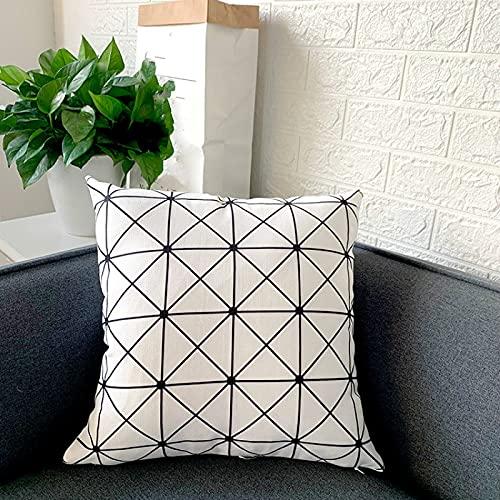 KLily Home Decor Kissenbezug Gestreifte Sofa Rücken Kissenbezug Office Seat Lendenkissen Lunch Break Kissenbezug